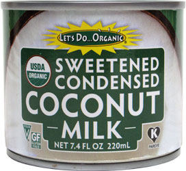 Let's Do Organic Sweetened Condensed Coconut Milk LARGE