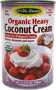 Organic Heavy Coconut Cream by Let's Do Organic