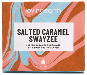 Organic Salted Caramel Swayzee Bar by Loving Earth LARGE