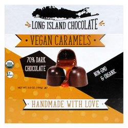 Long Island Chocolate Organic Vegan Caramels 9 Piece Box THUMBNAIL