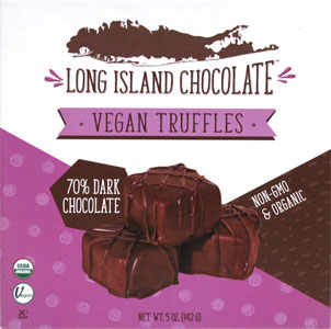 Organic Vegan Dark Chocolate Truffles by Long Island Chocolate