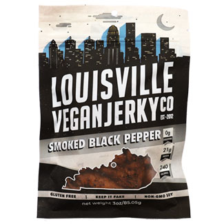 Smoked Black Pepper Jerky by Louisville Vegan Jerky Co. MAIN