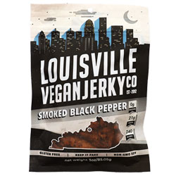 Smoked Black Pepper Jerky by Louisville Vegan Jerky Co. THUMBNAIL