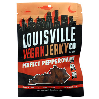 Perfect Pepperoni Jerky by Louisville Vegan Jerky Co. MAIN