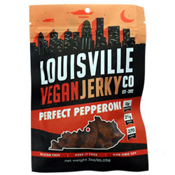 Perfect Pepperoni Jerky by Louisville Vegan Jerky Co. THUMBNAIL