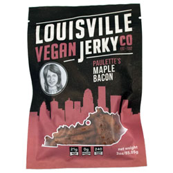 Paulette's Maple Bacon Jerky by Louisville Vegan Jerky Co. THUMBNAIL