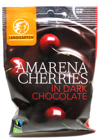 Organic Amarena Cherries in Dark Chocolate by Landgarten