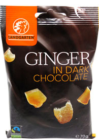 Organic Ginger in Dark Chocolate by Landgarten