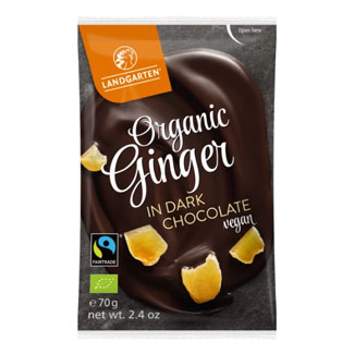 Organic Dark Chocolate Covered Ginger by Landgarten MAIN