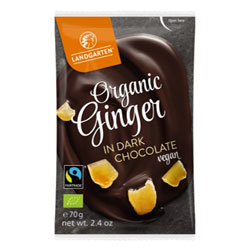 Organic Dark Chocolate Covered Ginger by Landgarten THUMBNAIL