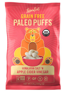 Organic Himalayan Sea Salt 'n Apple Cider Vinegar Paleo Puffs by Lesser Evil