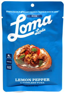 Lemon Pepper Fishless Tuna by Loma Linda Blue