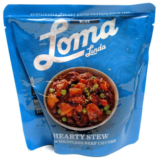 Hearty Stew with Meatless Beef Chunks by Loma Linda Blue