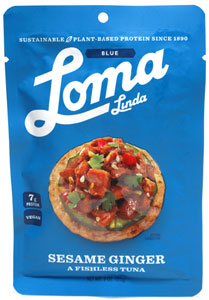 Sesame Ginger Fishless Tuna by Loma Linda Blue