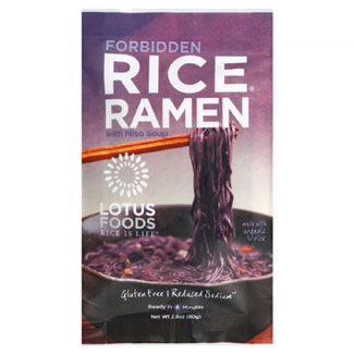 Forbidden Rice Ramen with Miso Soup by Lotus Foods MAIN