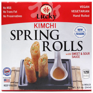 Kimchi Spring Rolls by Lucky Foods