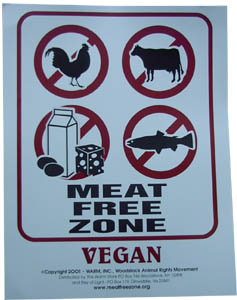 Meat Free Zone Sign