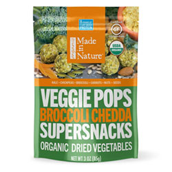 Made in Nature Organic Broccoli Chedda Veggie Pops THUMBNAIL