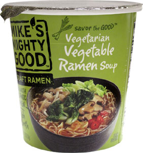 Mike's Mighty Good Vegetarian Vegetable Ramen Soup Cups LARGE