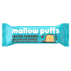Salted Caramel Mallow Puffs Chocolate Covered Marshmallow Bar THUMBNAIL
