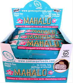 Mahalo Vegan Candy Bar by Go Max Go Foods - Box of 12 bars