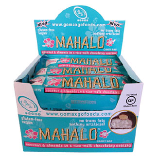 Mahalo Vegan Candy Bar by Go Max Go Foods - Box of 12 bars MAIN