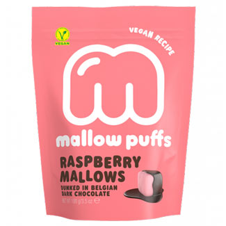 Raspberry Mallow Puffs Chocolate Covered Marshmallows MAIN