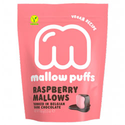 Raspberry Mallow Puffs Chocolate Covered Marshmallows THUMBNAIL