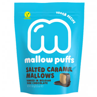 Salted Caramel Mallow Puffs Chocolate Covered Marshmallows MAIN