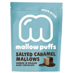 Salted Caramel Mallow Puffs Chocolate Covered Marshmallows THUMBNAIL