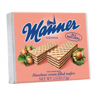 Hazelnut Cream Filled Wafers by Manner MAIN