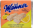 Lemon Cream Filled Wafers by Manner