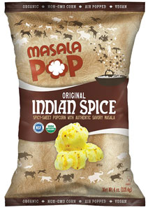 Organic Indian Spice Popcorn by Masala Pop