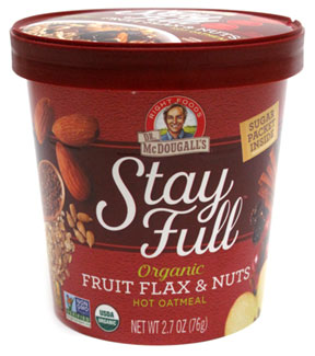 Stay Full Fruit Flax & Nuts Hot Oatmeal Cup by Dr. McDougall's Right Foods_LARGE