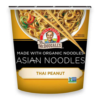 Thai Peanut Asian Noodle Cups by Dr. McDougall's MAIN