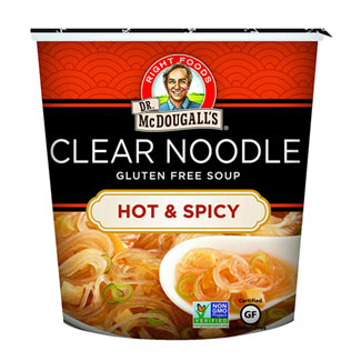 Hot & Spicy Clear Noodle Soup Cup by Dr. McDougall's MAIN
