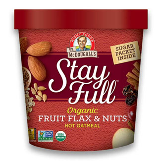 Stay Full Fruit Flax & Nuts Hot Oatmeal Cup by Dr. McDougall's Right Foods LARGE