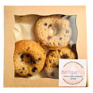 Wild Blueberry Cake Donuts by Meringueshop MAIN