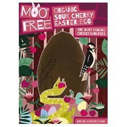 Organic Sour Cherry Premium Chocolate Easter Egg by Moo Free THUMBNAIL
