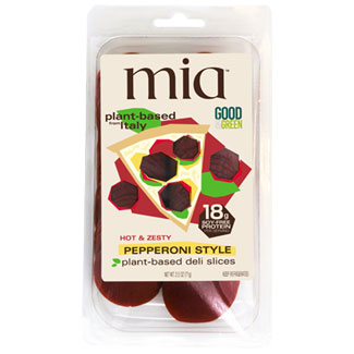 Mia Plant-Based Deli Slices - Hot & Zesty Pepperoni MAIN