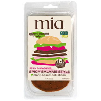 Mia Plant-Based Deli Slices - Spicy Salame MAIN
