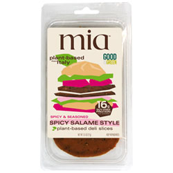 Mia Plant-Based Deli Slices - Spicy Salame THUMBNAIL