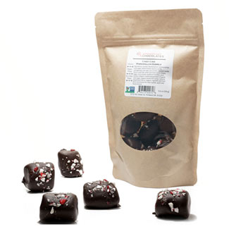 Crunchy Peppermint Marshmallow Barrels by Missionary Chocolates MAIN