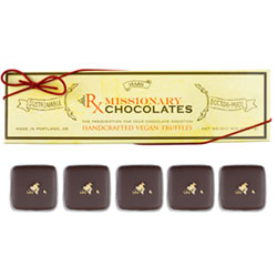 Whiskey Truffles by Missionary Chocolates - 5 pc. box THUMBNAIL