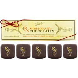 Blood Orange Cardamom Truffles by Missionary Chocolates  - 5 pc. box THUMBNAIL