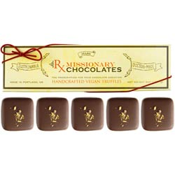 Chai Spice Truffles by Missionary Chocolates  - 5 pc. box THUMBNAIL