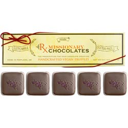 Champagne Truffles by Missionary Chocolates  - 5 pc. box THUMBNAIL