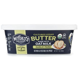 Organic Spreadable Cultured Oat Milk Butter by Miyoko's Creamery - Garlic Parm THUMBNAIL