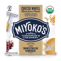 Smoked English Farmhouse Cheese Wheels by Miyoko's Creamery THUMBNAIL