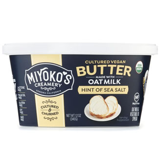 Organic Spreadable Cultured Vegan Oat Milk Butter by Miyoko's Creamery -Hint of Sea Salt MAIN